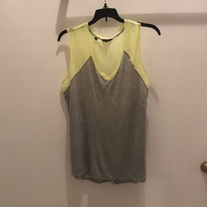 Guess gray and yellow sleeveless shirt